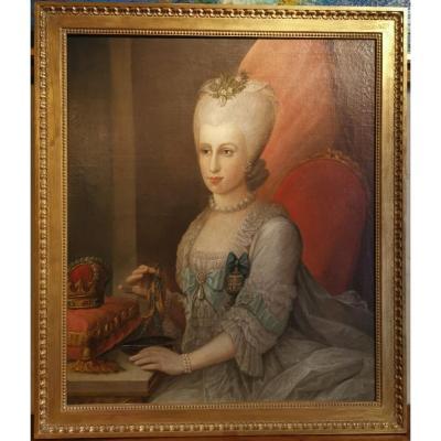 Portrait Son Altesse Sérénissime Marie Victoire d'Arenberg (1714-1793).