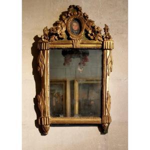 Miroir Néoclassique à La Jeune Fille D'époque Louis XVI Vers 1781