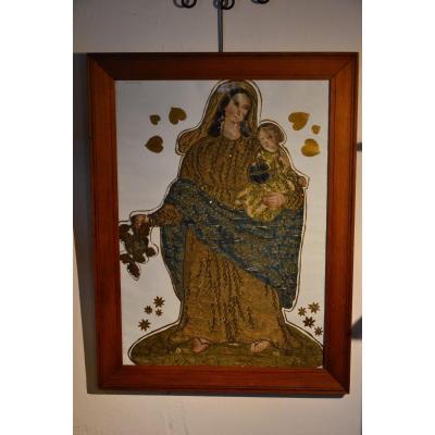Bannière Vierge à L 'enfant