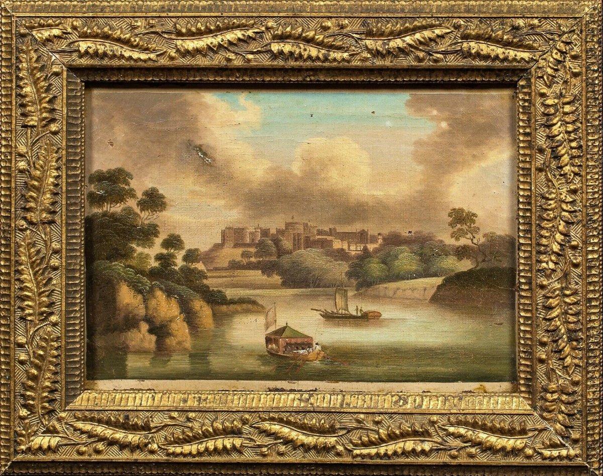 Vue Du Château De Windsor, XIXe Siècle  Ecole Chinoise