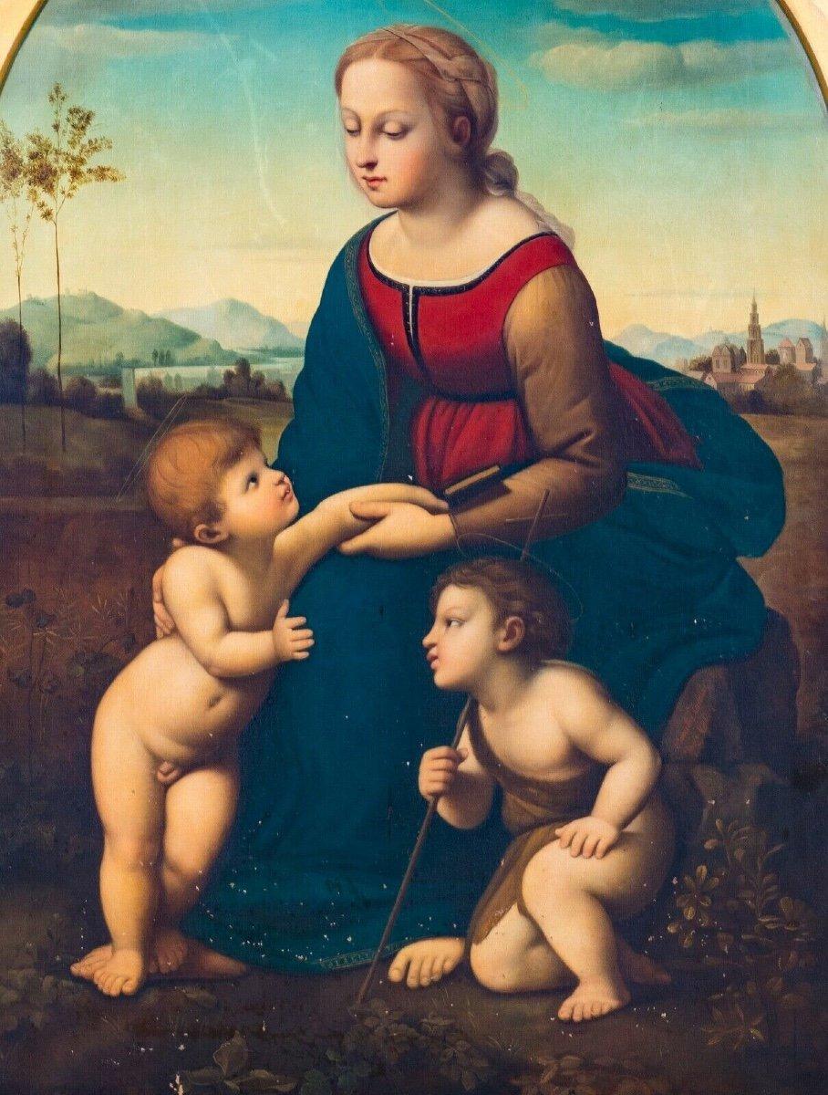La Belle Jardinière, XIXe Siècle  d'Après Raphael (1483-1520) -photo-3