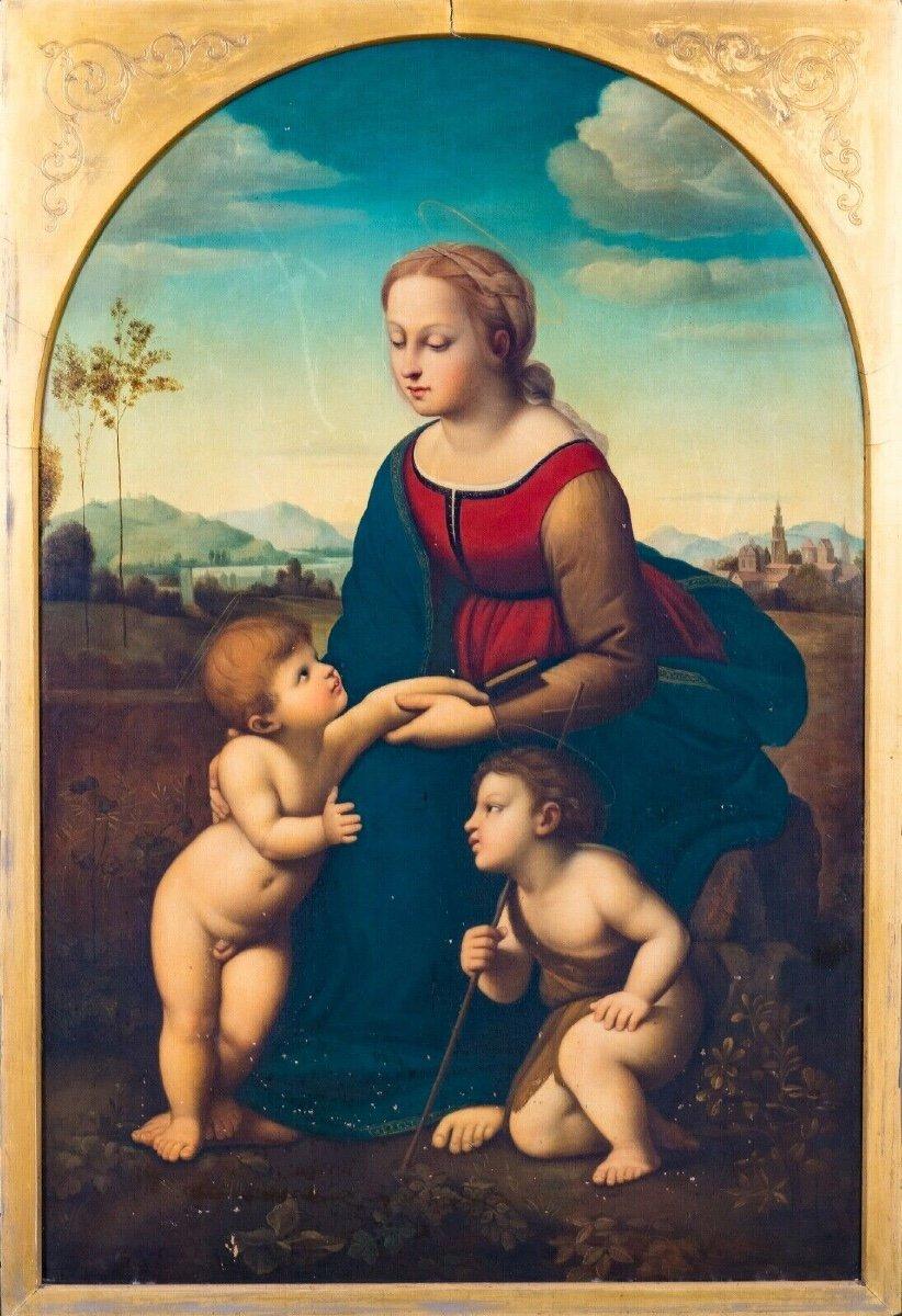 La Belle Jardinière, XIXe Siècle  d'Après Raphael (1483-1520)