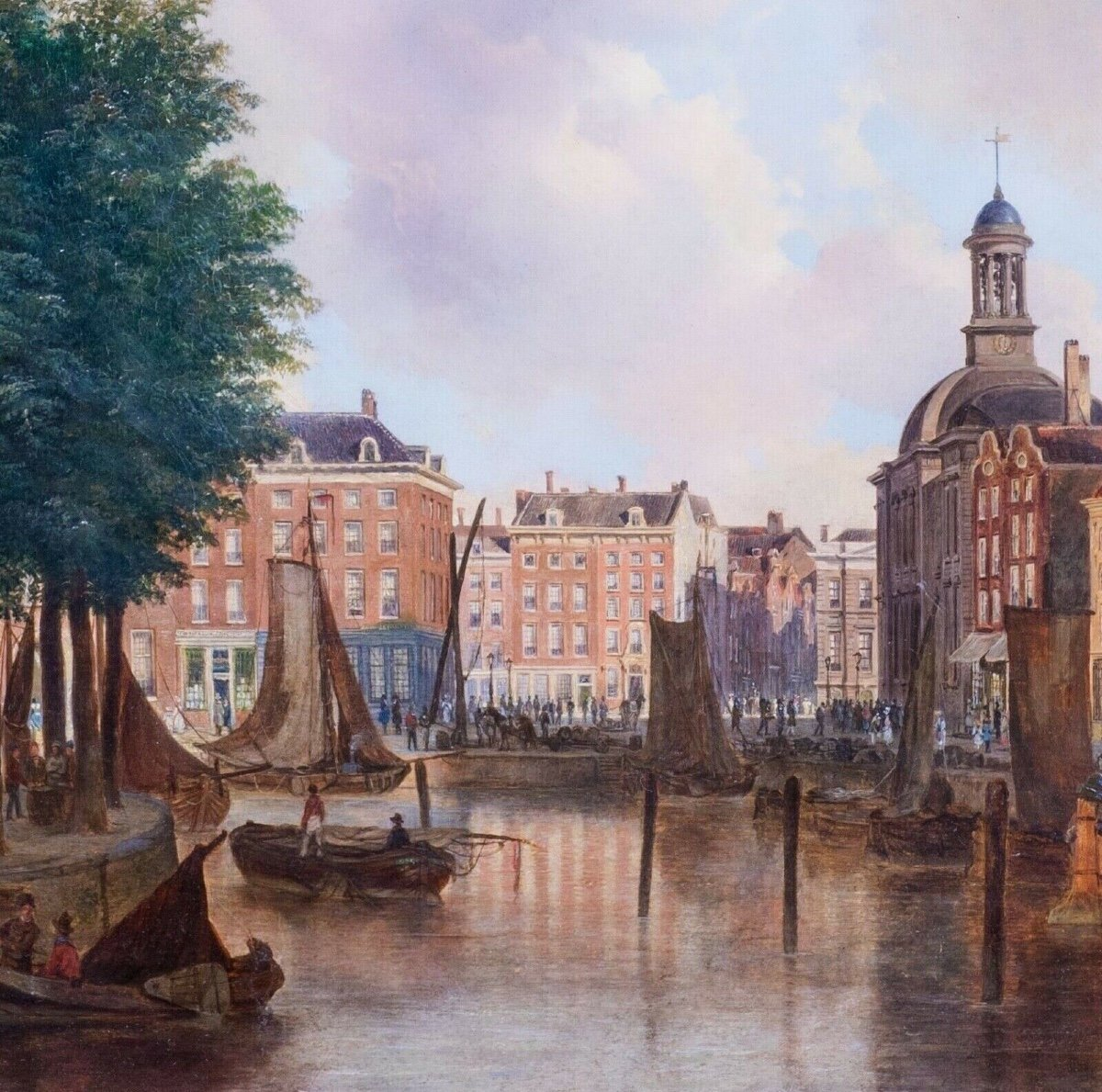 View Of The Port Of Amsterdam Eighteenth Century Circle Of Isaac Ouwater (1748-1793)-photo-3