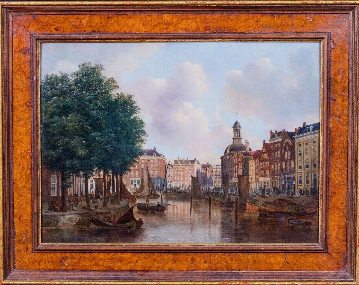 View Of The Port Of Amsterdam Eighteenth Century Circle Of Isaac Ouwater (1748-1793)