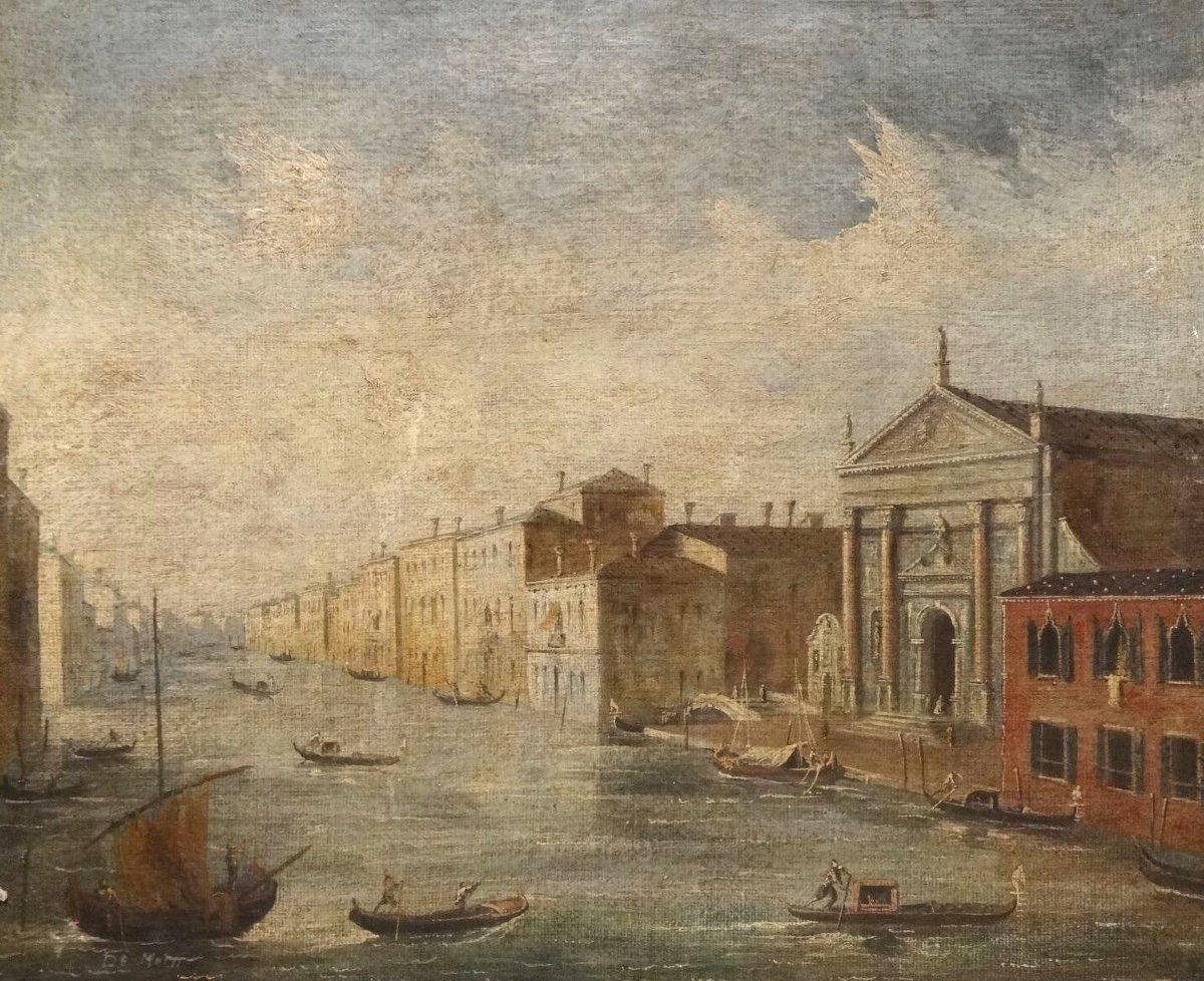 Vue De Venise, 19ème Siècle  Ecole Italienne - Signé De Motti  -photo-2