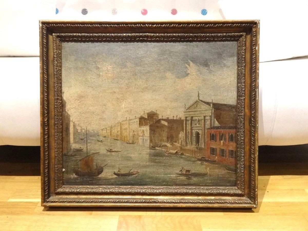 Vue De Venise, 19ème Siècle  Ecole Italienne - Signé De Motti  -photo-3