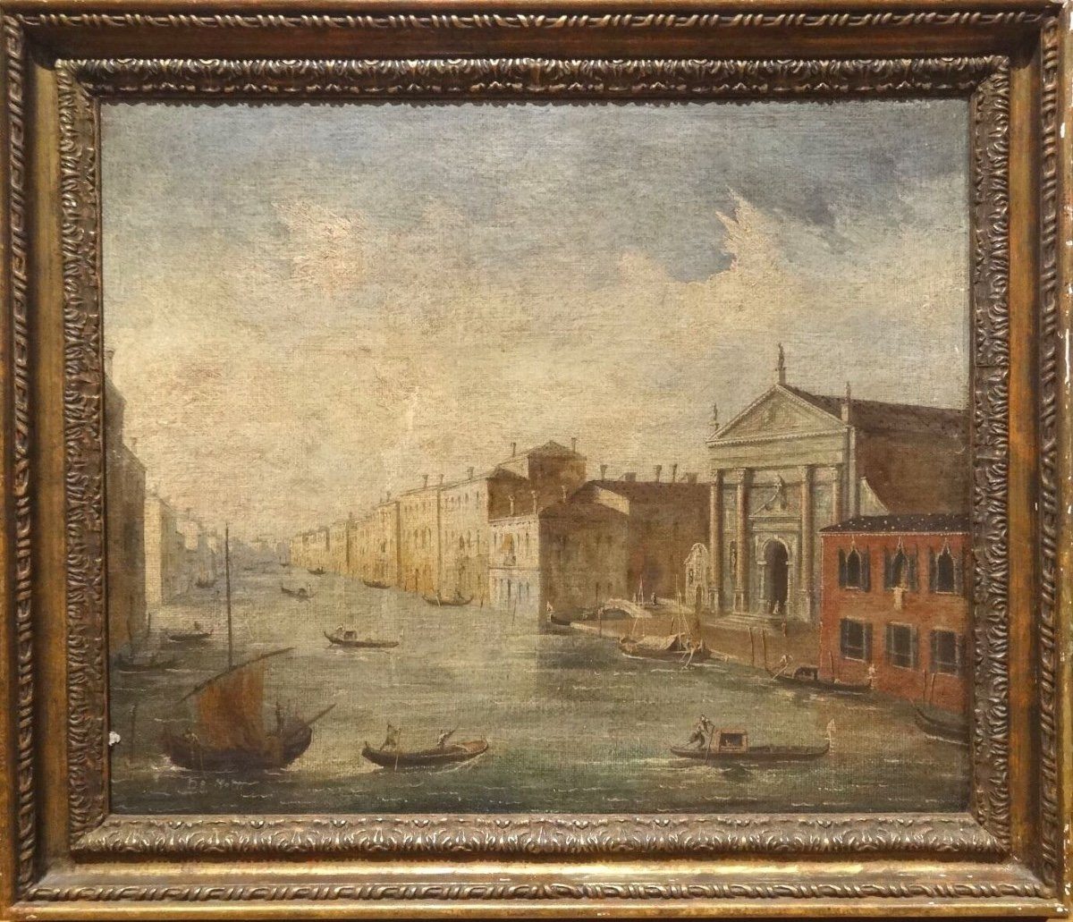 Vue De Venise, 19ème Siècle  Ecole Italienne - Signé De Motti