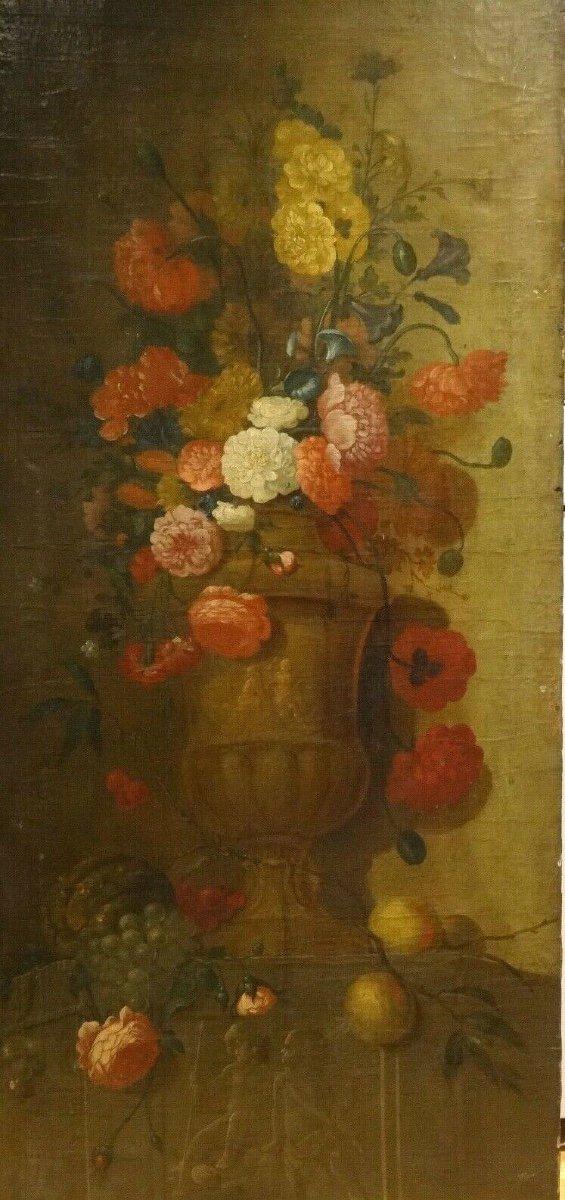 Nature Morte De Fleurs, XVIIe Siècle  École Néerlandaise