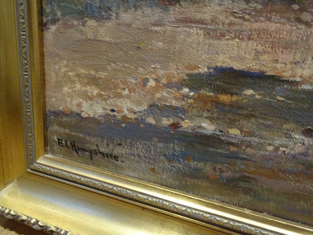 Paysage De Rivière Des Anglais, Début Du XXe Siècle  Par Ernest Llewellyn Hampshire (1882-1944)-photo-3