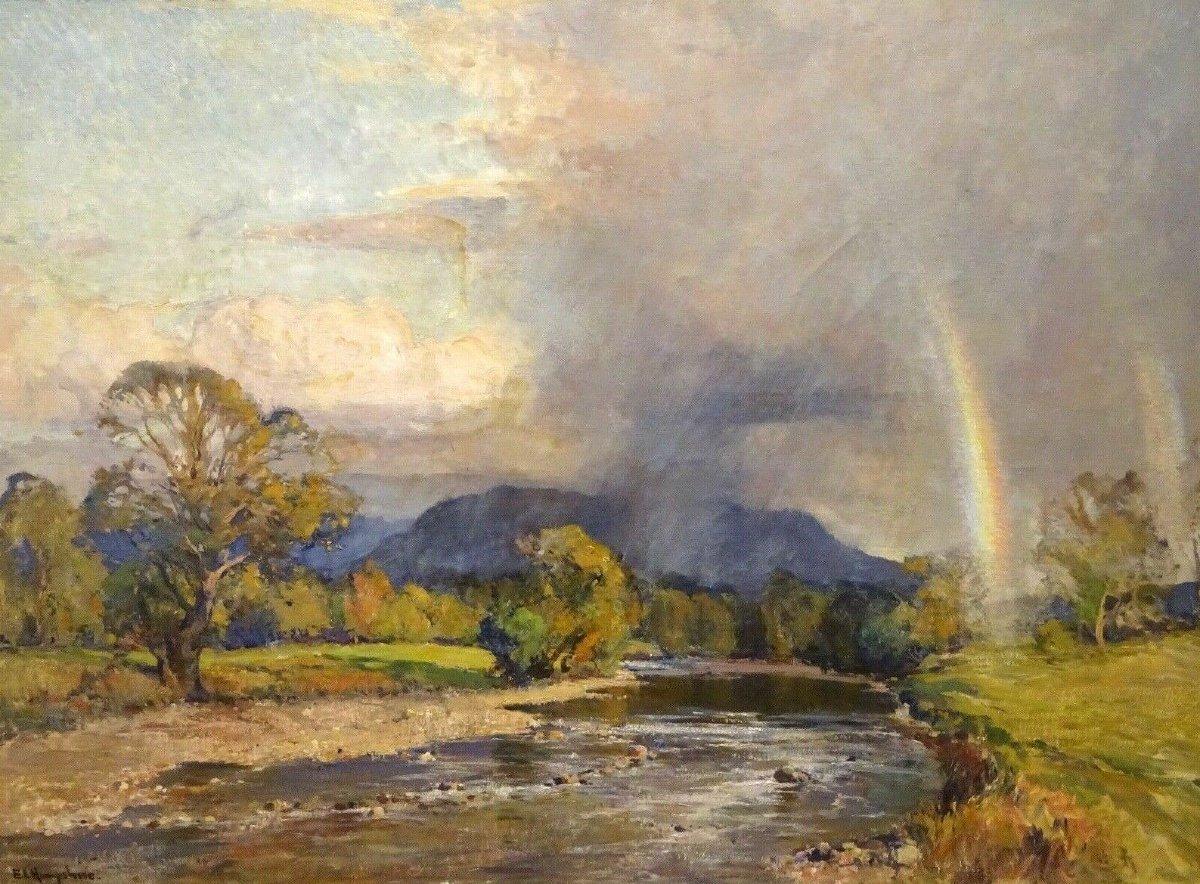 Paysage De Rivière Des Anglais, Début Du XXe Siècle  Par Ernest Llewellyn Hampshire (1882-1944)