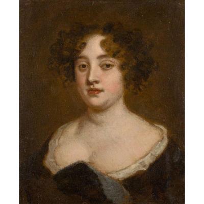 Studio De Sir Peter Lely (britannique 1618-1680) - Portrait De Lady Francklin De Bedfordshire