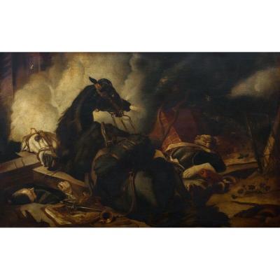 Cheval De Guerre Napoléonien, XIXe Siècle  d'Après Sir Edwin Henry Landseer (1802-1872)