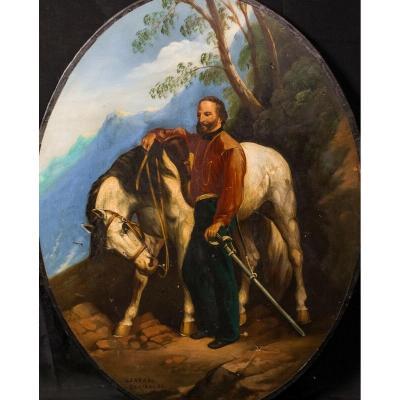 Portrait De Giuseppe Maria Garibaldi (1807-1882)  Ecole Européenne