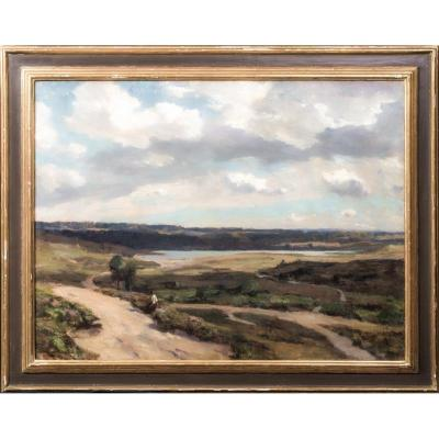 Figure Dans Un Paysage, Daté De 1915  Par Sir Herbert Edwin Pelham Hughes Stanton (1870-1937)