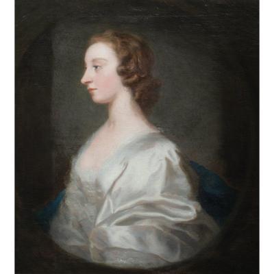 Portrait De Dame, Mlle Craigie, XVIIIe Siècle  Cercle d'Allan Ramsay (1713-1784)