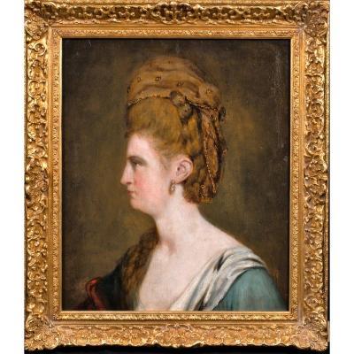 Portrait De Dame, XVIIIe Siècle  École Française - On Pense Qu'il S'agit d'Une Comtesse Russe