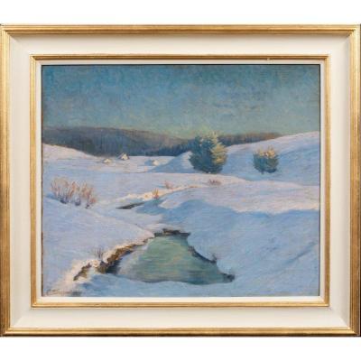 Paysage d'Hiver, Près De Maloja, Vers 1920  Gottardo Segantini (1882-1975)