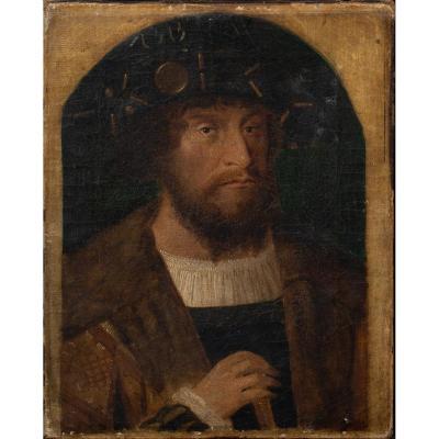 Portrait d'Un Chrétien Ii, Roi De Danemark Et De Norvège, XVIe Siècle , Michael Sittow