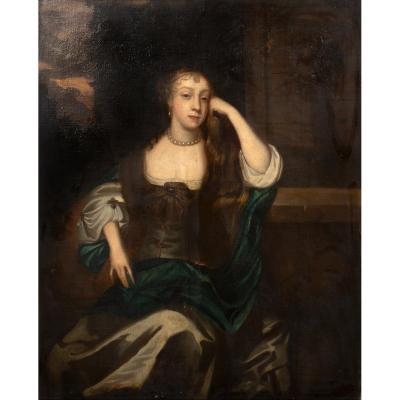Portrait De Lady Williams, XVIIe Siècle  Attribué à Sir Peter Lely (1618-1680)