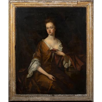 Portrait De Lady Carr, XVIIe Siècle  Attribué à Sir Godfrey Kneller (1646-1723)