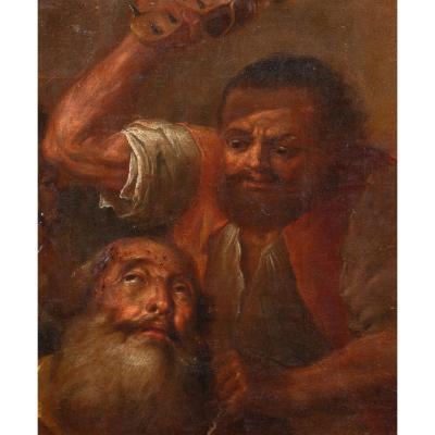 Un Homme Barbu Torturé Par Une Sandale à Pointes, XVIIe Siècle