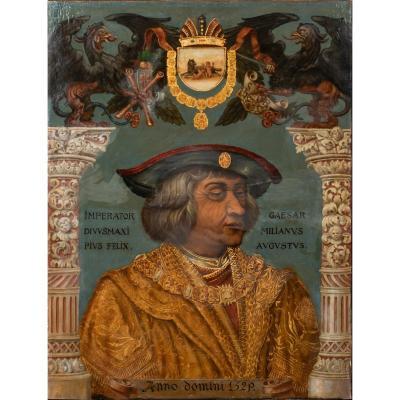 Portrait De Maximilien Ier Empereur Romain Germanique Et Archiduc d'Autriche, XVIe Siècle