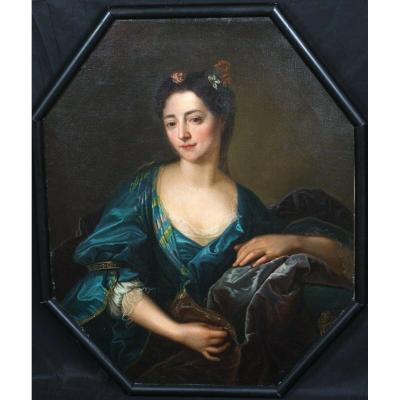 Portrait De La Comtesse Marie Du Barry, XVIIIe Siècle  Inscrit à Par François-hubert Drouais