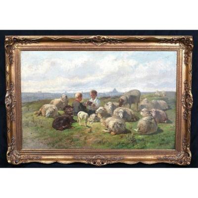 Un Jeu De Cartes, 19ème Siècle  Par Cornelis Van Leemputten (1841-1902)