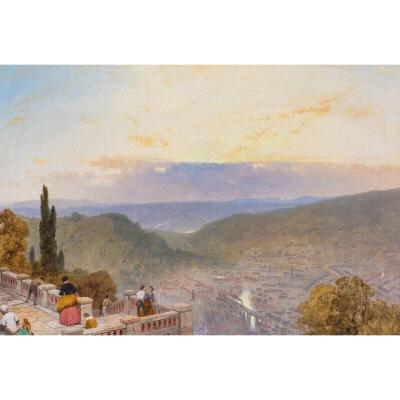 View Of Florence At Sunset From San Miniato Church, XVI Century By James Pyne