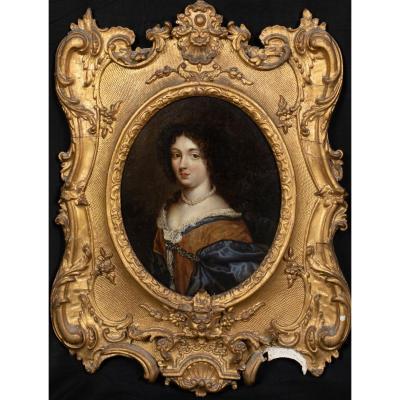 Portrait De Dame / Comtesse, XVIIe Siècle  Cercle De Hyacinthe Rigaud (1659-1743)