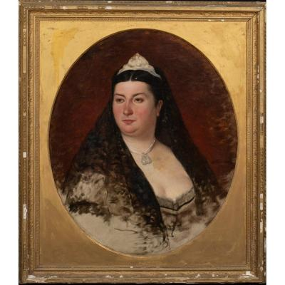 Portrait Of A Fat Princess Believed To Be Princess Mary Adelaide Of Cambridge