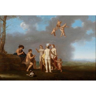 Le Jugement De Paris, XVIIe Siècle  Par Toussaint Gelton (1630-1680)
