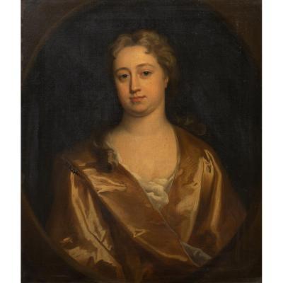 Portrait d'Elizabeth Banks, 1ère Comtesse d'Aylesford, Vers 1720.  Cercle  Jonathan Richardson