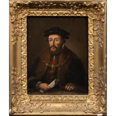 Portrait De Maximilien Ii, Archiduc d'Autriche, XVIIe Siècle  École Néerlandaise