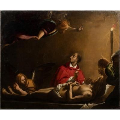 The Lamentation Of The Death Of Christ, 17th Century Disciple Of Pier Francesco Mazzucchelli