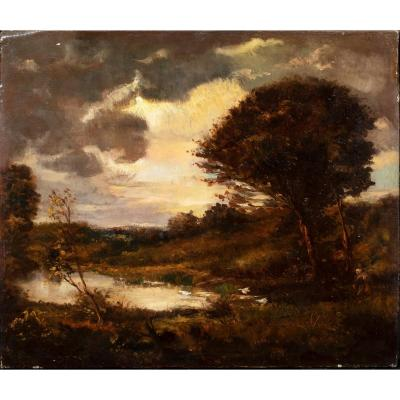 Landscape, 19th Century By Theodore Rousseau (1812-1867)