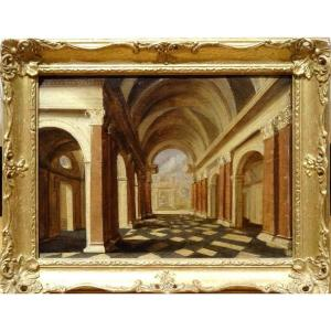 Interior Of The Cathedral, 17th Century Circle Of Peeter I Neeffs (1578-1656)