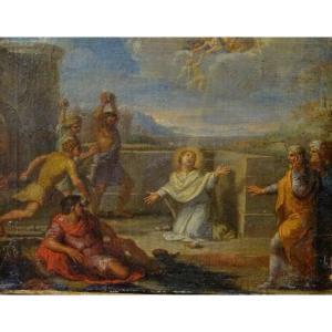 The Stoning Of Saint Etienne, 17th Century School Of François Verdier (1651-1730)