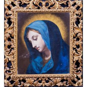 Madonna, XVIth Century School Of Carlo Dolci (1616-1686)