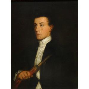 Portrait Of A Zampogna Player, Eighteenth Century Circa 1770 Italian School