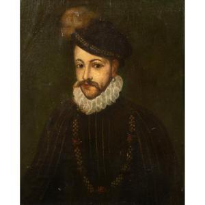 Portrait Of Sir Walter Raleigh (1552-1618), XVIth Century Elizabethan School