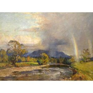 English River Landscape, Early 20th Century By Ernest Llewellyn Hampshire (1882-1944)