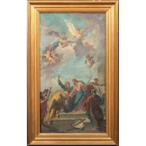 Christ Giving The Keys To Heaven To Saint Peter Disciple By Giovanni Battista Tiepolo