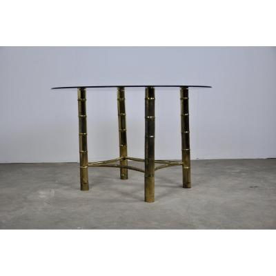 Table Bambou En Laiton 1960s