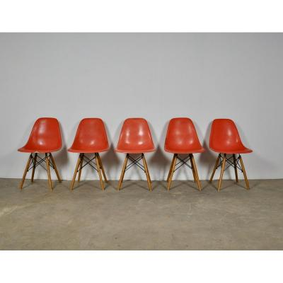 Dsw Dining Chair By Charles & Ray Eames For Herman Miller, 1970s
