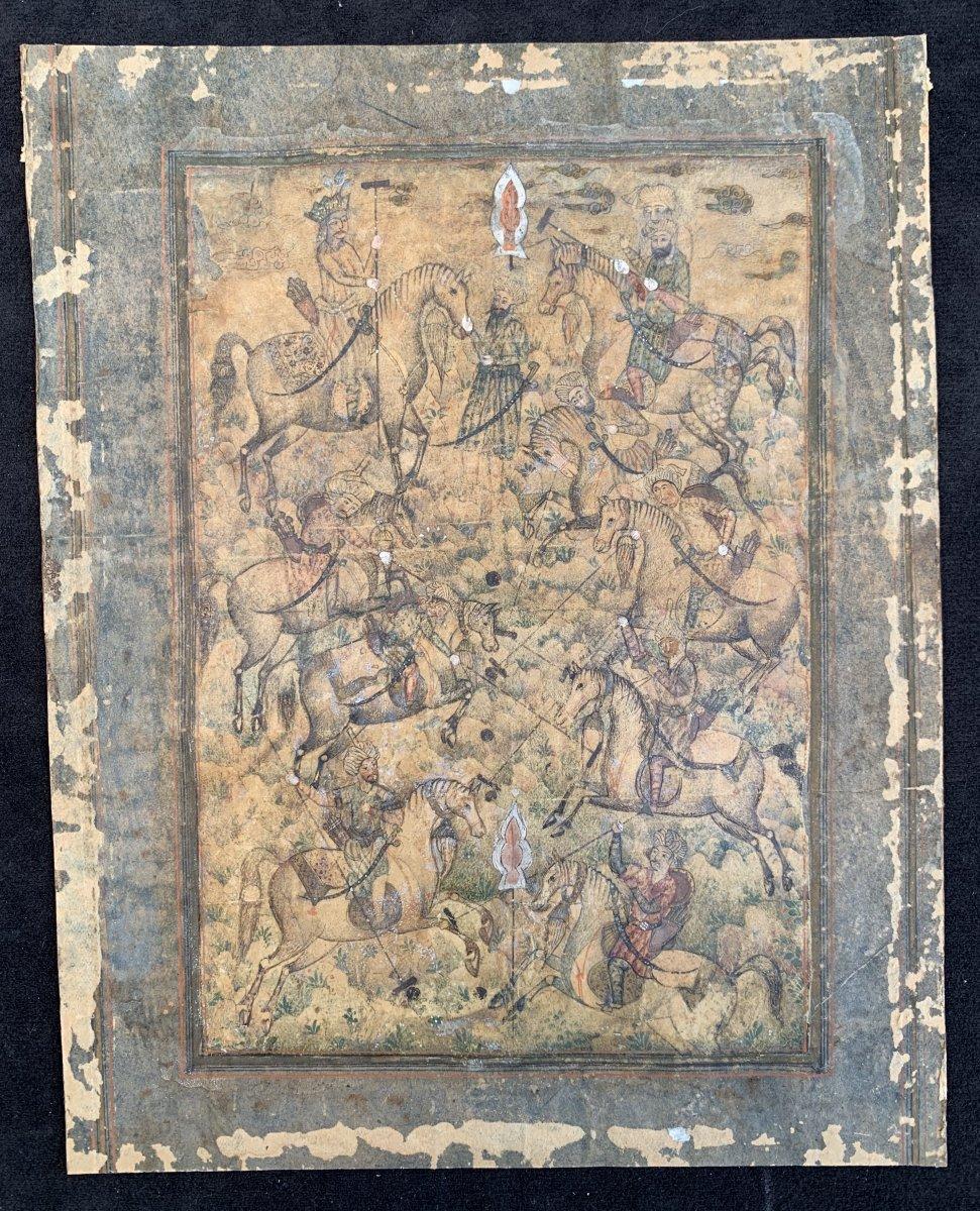 Zand Dynasty Perisan Polo Players Painted Miniature 1750-1794