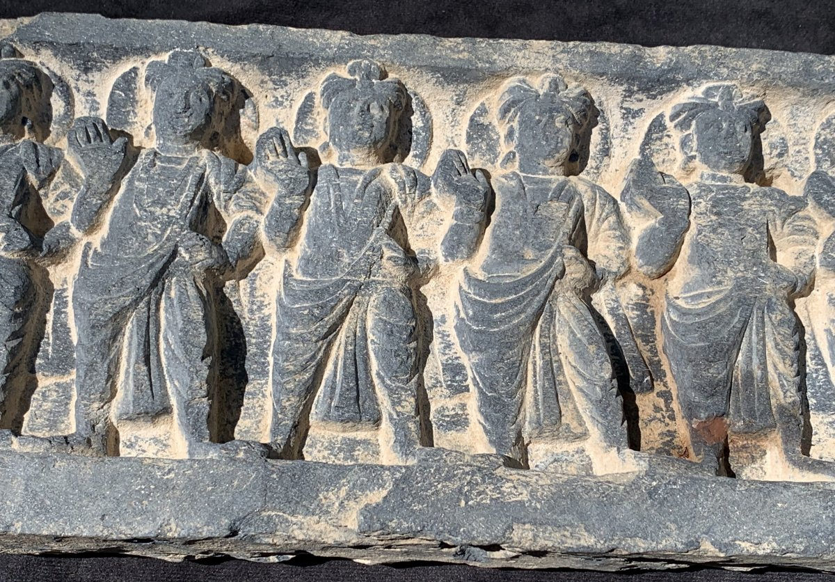Ivth-iiird Cty, Gandharan Schist Carved Frieze