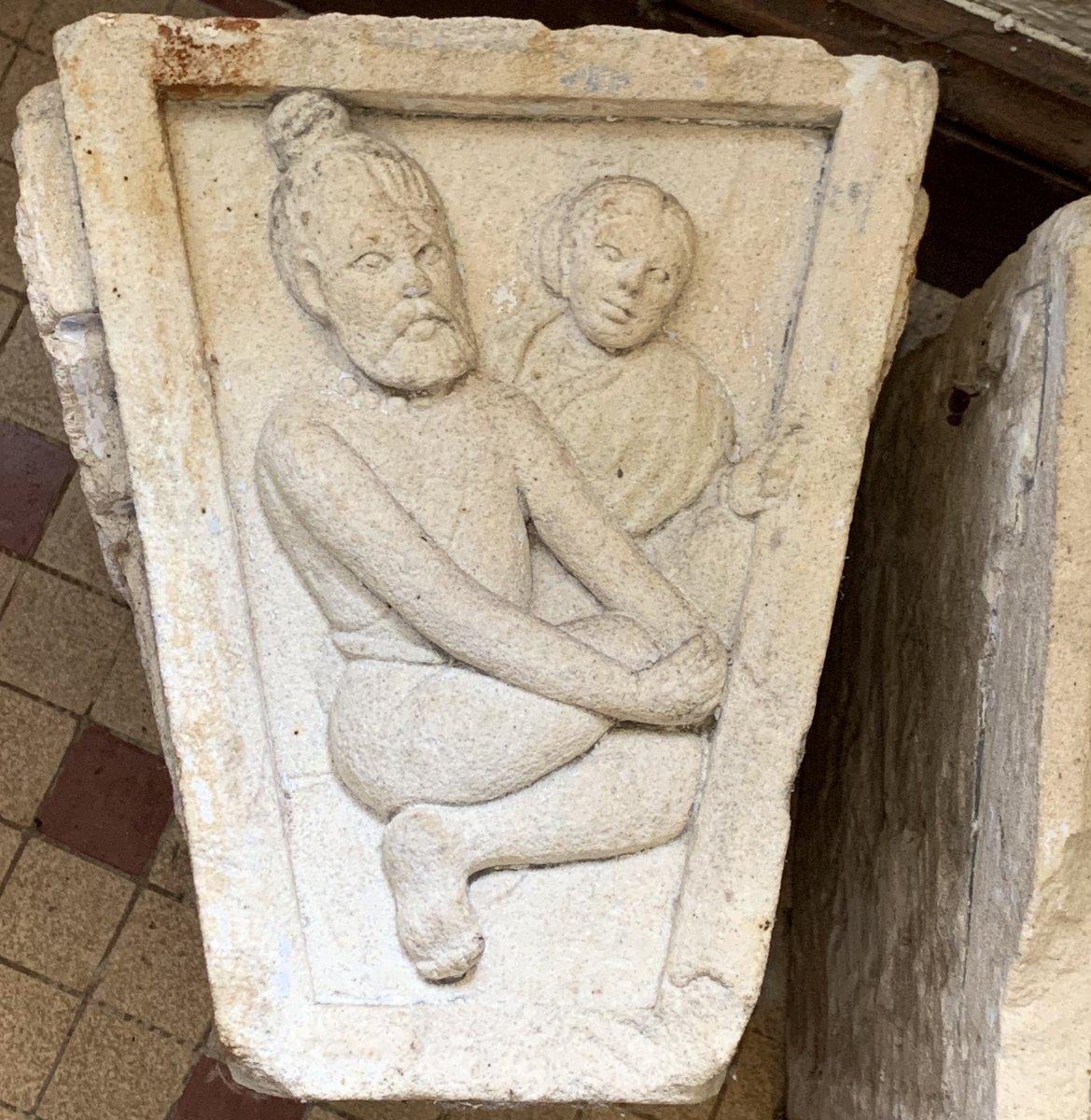 3 gdes clés de porte en pierre sculpté, Inde XVIIe / XVIIIe-photo-2