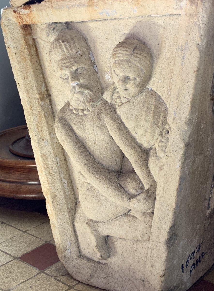 3 gdes clés de porte en pierre sculpté, Inde XVIIe / XVIIIe-photo-4