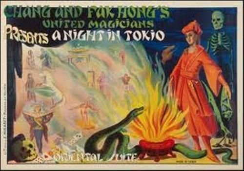 Set / Collection Of 4 Original Magic Fak Hong's Posters, Early XXth Cty